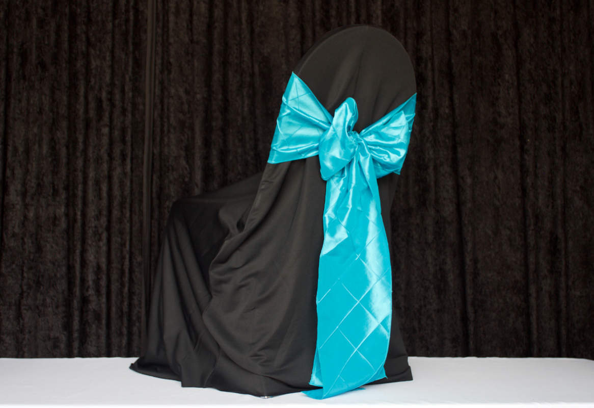 Black Round for Banquet Polyester Chair Cover Image