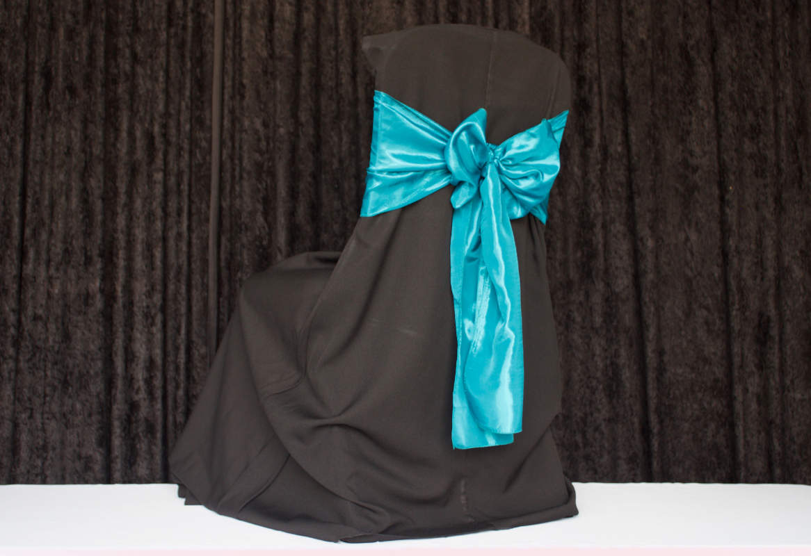 Black Square for Banquet Polyester Chair Cover Image