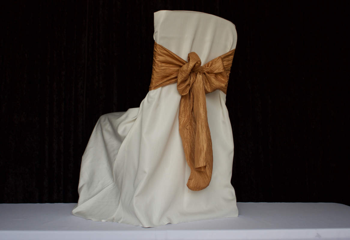 Ivory Square Back for Banquet Polyester Chair Cover Image
