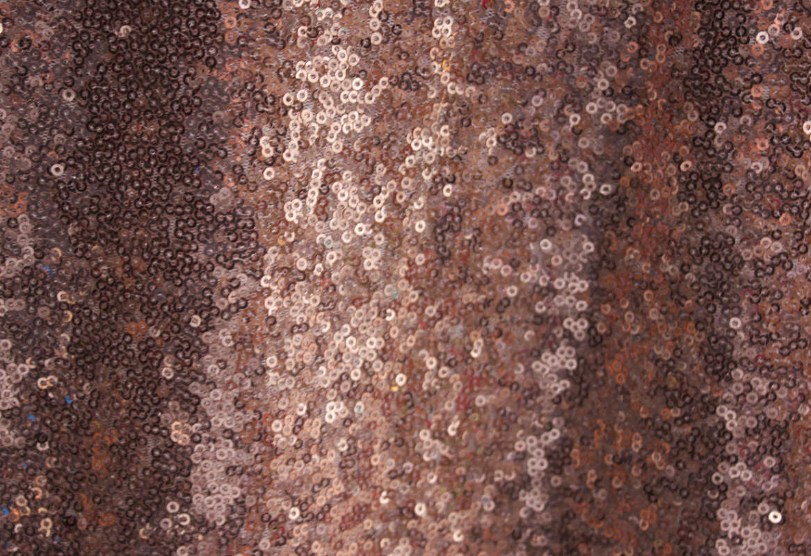 Rose Gold Blush Glitz Sequence Table Cloth Image