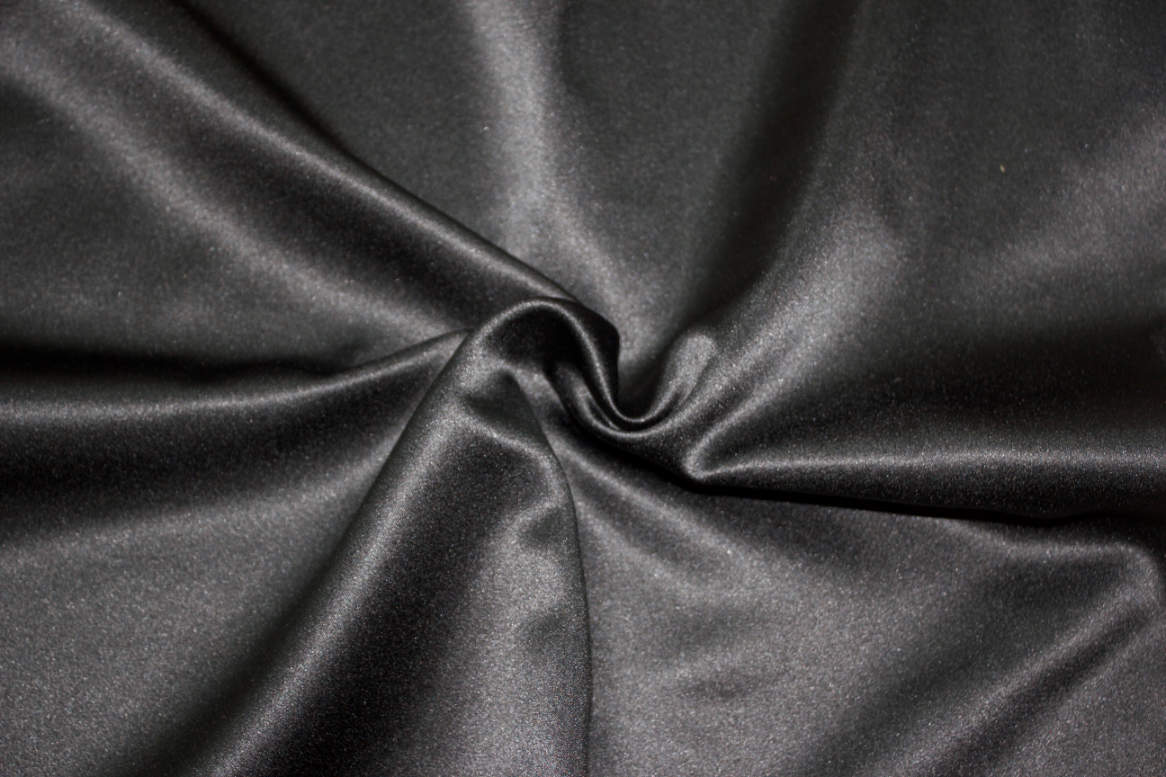 Black Double Sided Satin Napkins Image