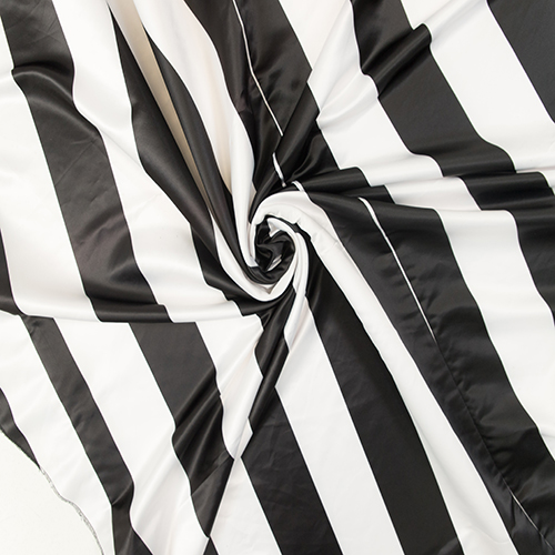 Striped Print Satin Table Cloth Image
