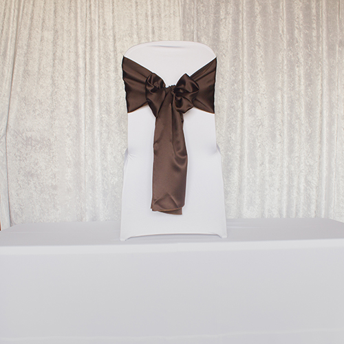 Brown Satin Sash Image
