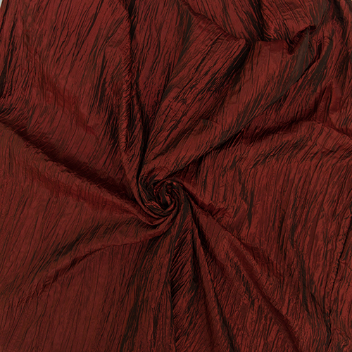 Burgundy Crushed Taffeta Image
