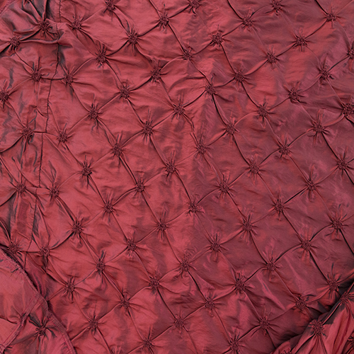 Burgundy Pinched Solid Collection Table Cloth Image