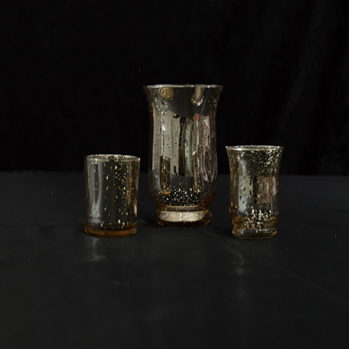 "Gold Mercury Glass Votives"" Image"