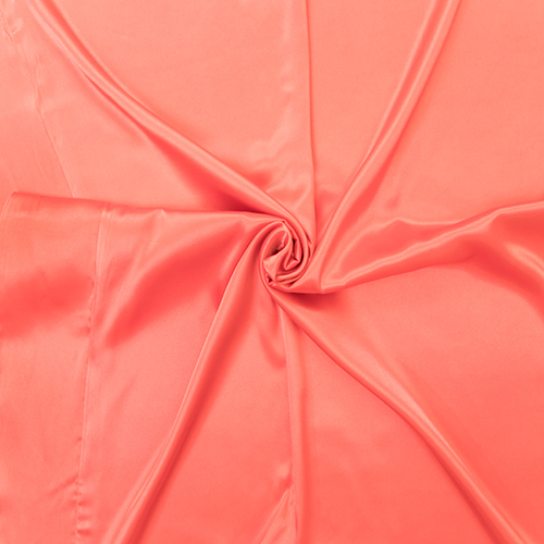 Coral Satin Solid Overlay Image