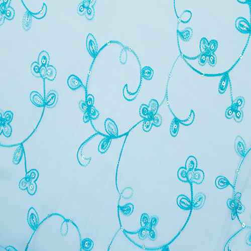 Turquoise Floral Sequence Image