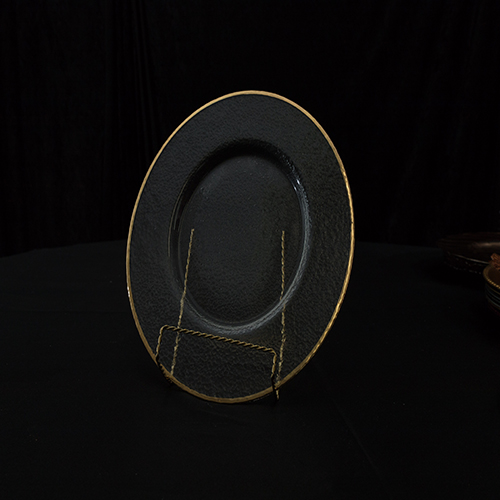 Frosted Glass Gold Rim Image