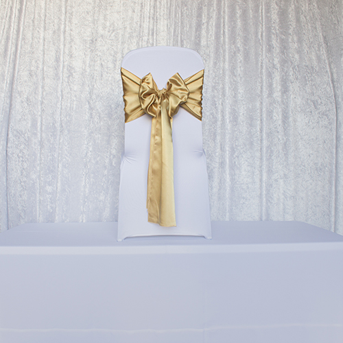 Antique Gold Satin Sash Image