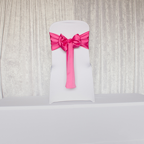 Hot Pink Satin Sash Image