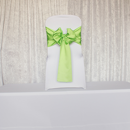 Lime Green Satin Sash Image