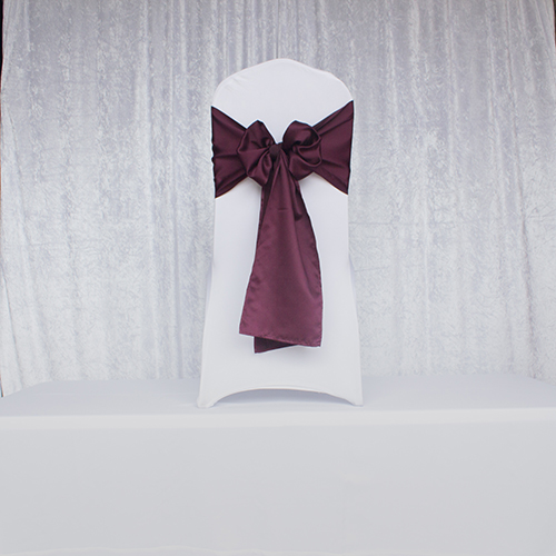 Dark Plum Satin Sash Image