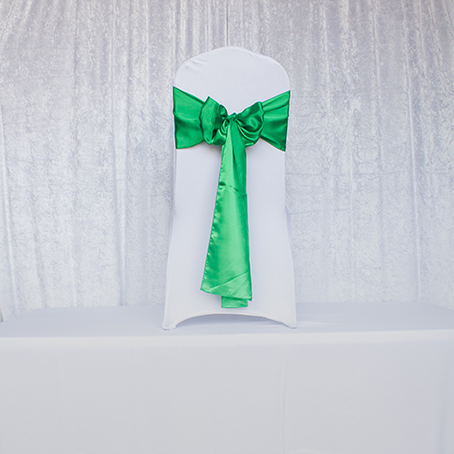 Kelly Green Satin Sash Image