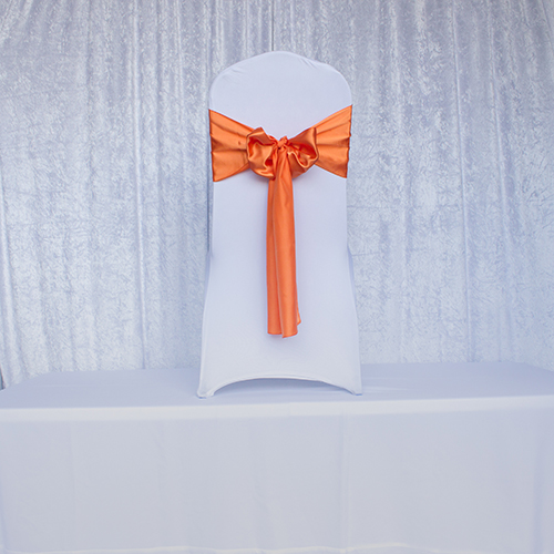 Orange Satin Sash Image