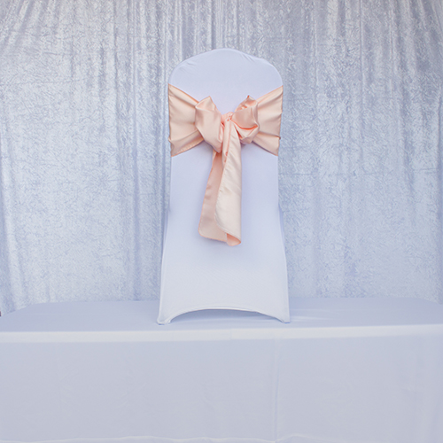 Peach Satin Sash Image