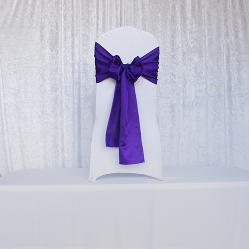Purple Satin Sash Image
