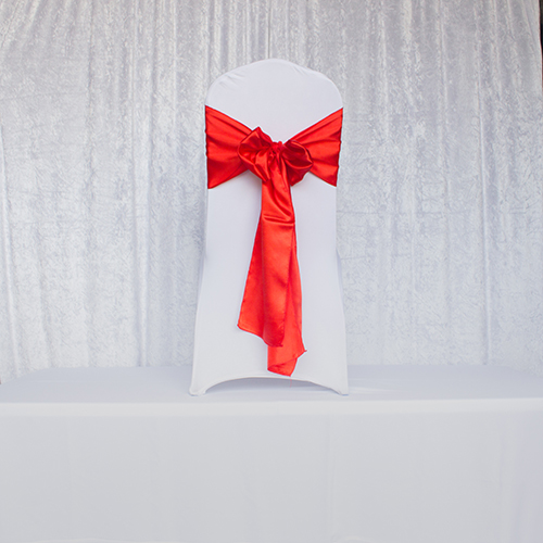 Red and Orange Satin Sash Image
