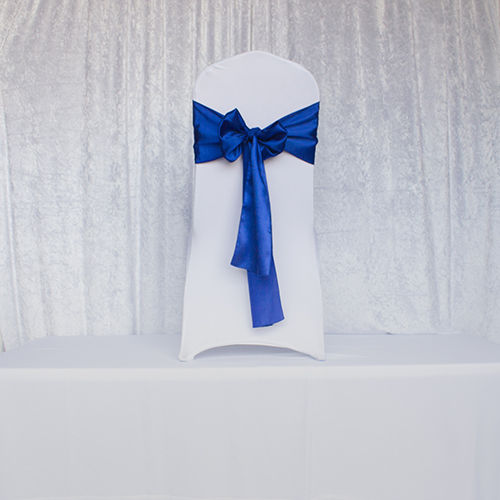 Royal Blue Satin Sash Image