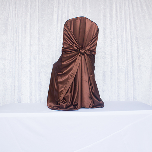Brown Satin Self Tie Image