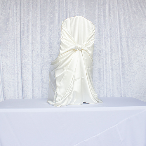 Ivory Satin Self Tie Image