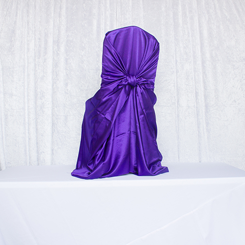 Purple Satin Self Tie Image