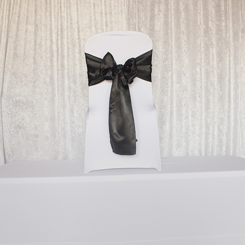 Shiny Black Satin Sash Image