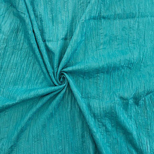 Turquoise Crushed Taffeta Solid Collection Table Cloth Image