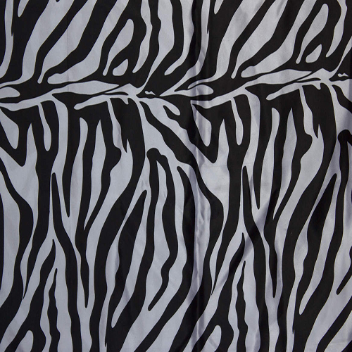 Zebra Print Satin Table Cloth Image
