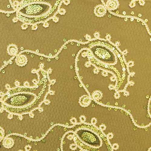 Paisley Olive Green Specialty Overlay Image