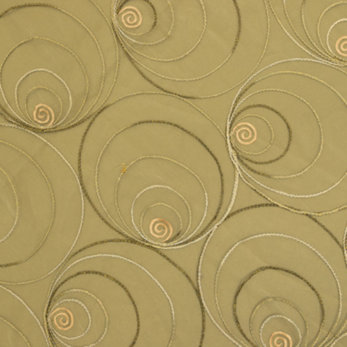 Pearl Shimmer gold and Olive Table Cloth Image