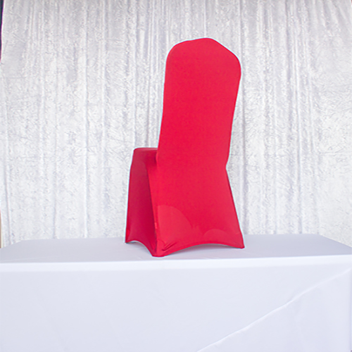Apple Red Spandex Chair Covers